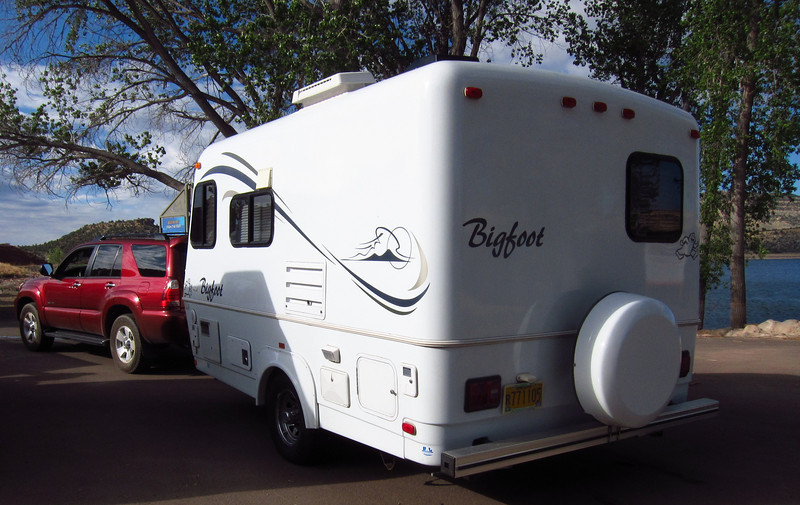My 17 foot Bigfoot trailer -- home for 2 1/2 weeks.