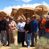 """another excursion into the wilderness with Don -- this time to see """"hoodoo"""" rock formations in the desert."""