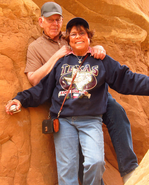 Our leaders and hosts, Don and Betsy Taylor, from Salt Lake City.  5th year leading tour of southern Utah