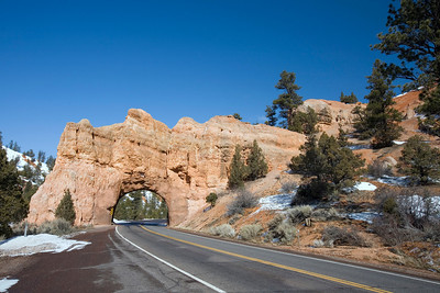 Tunnel outside of Bryce Canyon National Park.