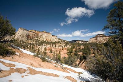 East side of Zion National Park.  Utah.