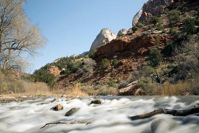 Virgin River.  Zion National Park. Utah