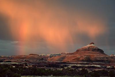 Rainbow Virga Pyramid