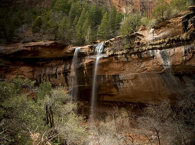 Middle Emerald Pool Falls.  Zion National Park.  Utah.