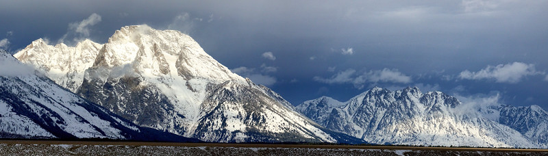 Mt. Moran and the northern end of the Tetons