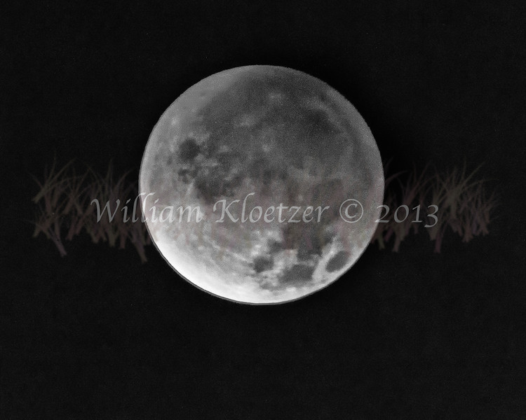 12-10-12 lunar eclipse  (converted to B&W) at 6:07AM, Carlsbad CA