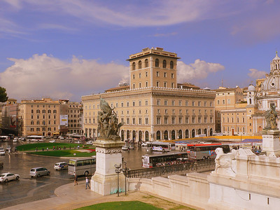 The offices of the Assicurazioni Generali on the Piazza Venezia.