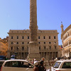 The column of Marcus Aurelius, the philosopher emperor of Rome.