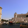 """A view of """"the typewriter"""" on the Piazza Venezia."""
