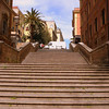 Staircases on the hills of Rome.