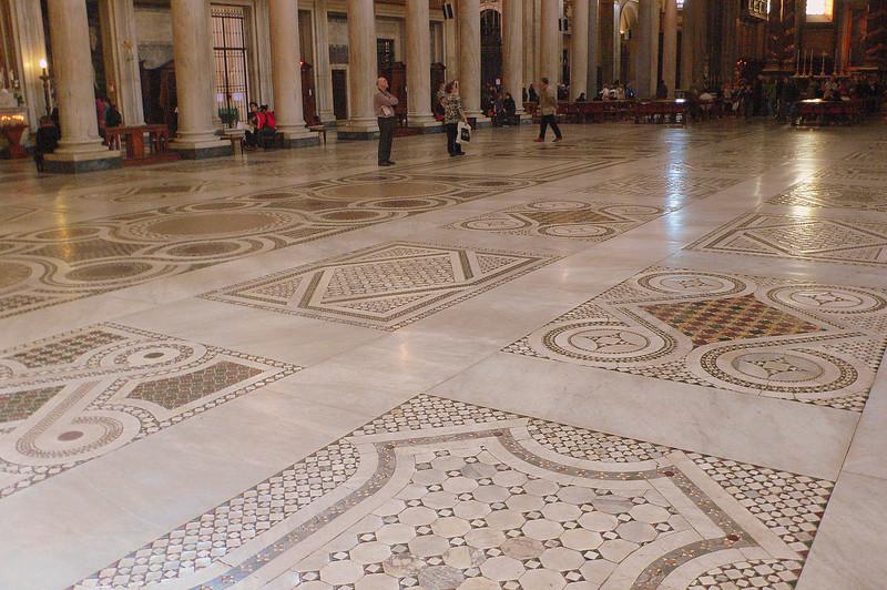 The floor of the Basilica Papale di Santa Maria Maggiore.