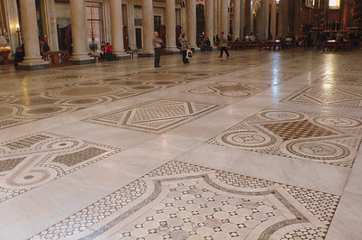 The floor of the Basilica Papale di Santa Maria Maggiore.