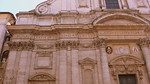 A detail of the facade of the church of Saint Ignatius of Loyola.