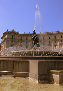 The Fountain of the Naiads at the Piazza della Republica.