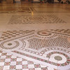 A close-up of the floor of the Basilica Papale di Santa Maria Maggiore.