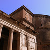 The Pantheon viewed from its right flank.