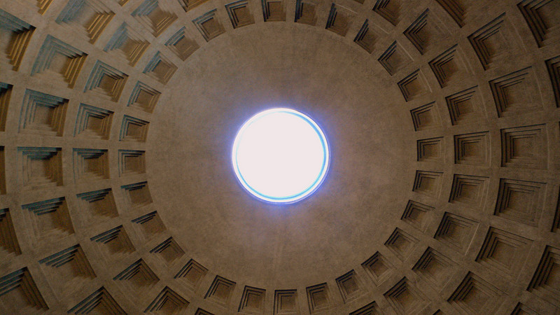 The dome of the Pantheon.