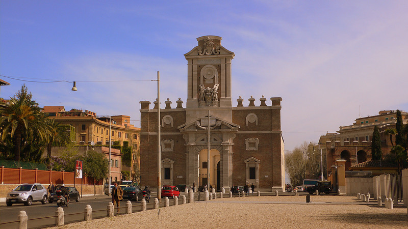 The Porta Pia.