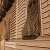 Curved window grills on the Piazza dell'Indipendenza.