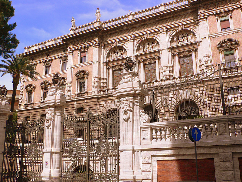 The Rose Garden Palace on the Via Boncompagni.
