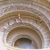 The double-helix staircase leading out of the Vatican Museum.
