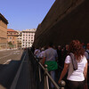 The long queues to get into the Vatican Museum. Tour agencies offer services to cut the queues with 40% markups on the ticket prices.