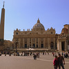 St. Peter's Basilica was built over several hundred years by several architects such as Bramante and Michelangelo.