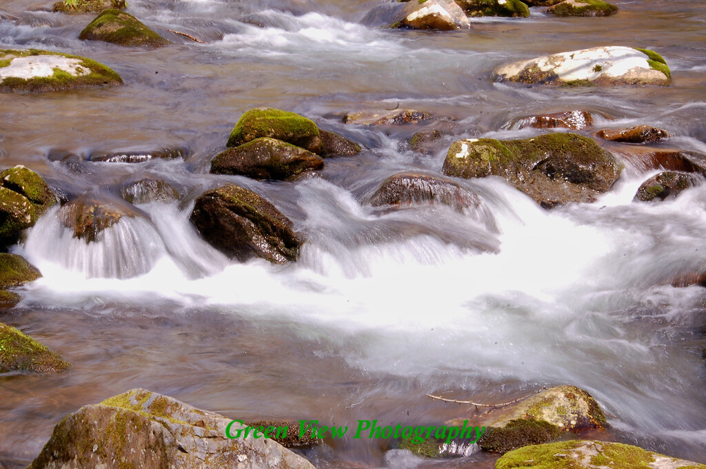 Oconaluftee River falls