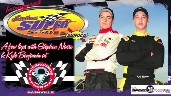 Stephen Nasse and Kyle Benjamin laps at Nashville Fairgrounds Speedway (video)