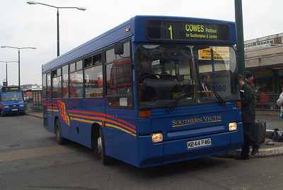819 - K244PAG - Newport (old bus station) - 16.2.04