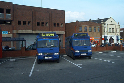 257 and 258 - Newport (old bus station) - October 2003