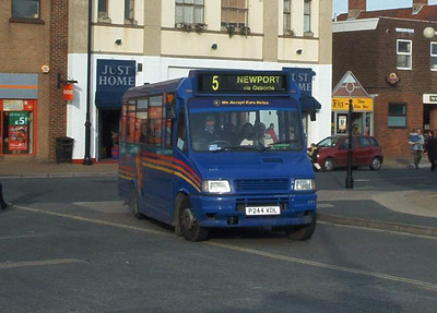 244 - P244VDL - Newport (old bus station) - October 2003