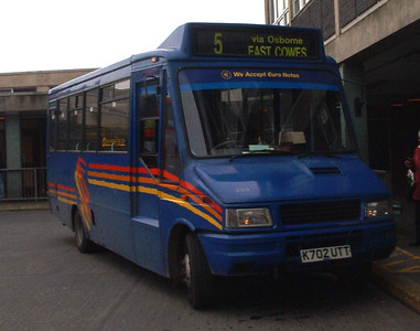 255 - K702UTT - Newport (old bus station) - 16.2.04
