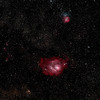 M8 The lagoon nebula and M20 The Trifid Nebula