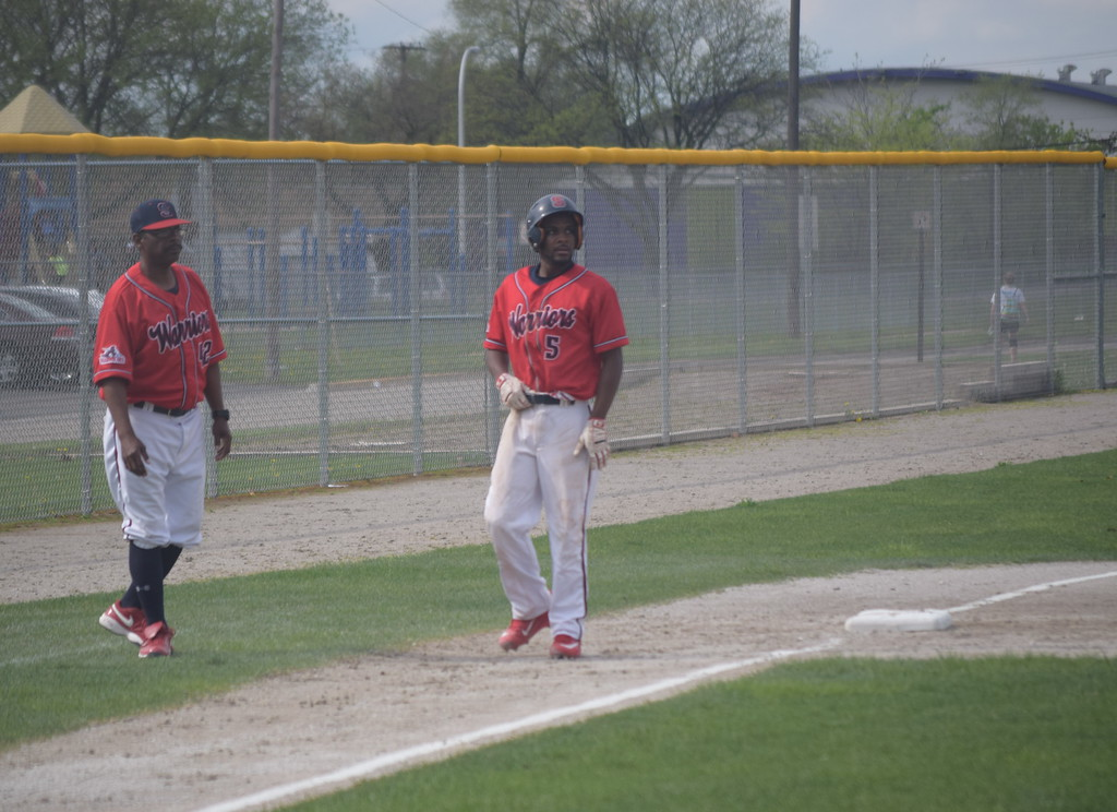 . Southfield A&T has put itself in good position to win the OAA Gold baseball title once again. They swept a doubleheader against Hazel Park on Tuesday. (Photo by Paula Pasche)