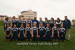 Southfield Varsity Field Hockey Team 2007 <br><br>This copy was lightened up from the original should print much better