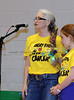 Dr. Heidi Jordan, head of Team Angry Birds, speaks during opening ceremonies at Southlake's second annual Relay for Life/Rachel's Rally fundraising event for the American Cancer Society last Friday night at Carroll High School.