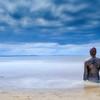 Antony Gormley installation - Another Place, Crosby Beach, Crosby, England