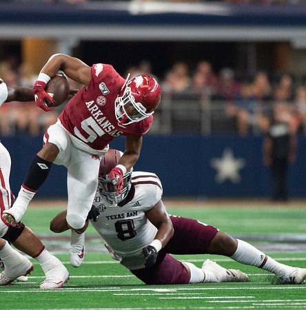 NCAA Football 2019: Texas A&M vs Arkansas