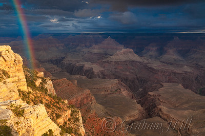 Rainbow, Mather Point Overlook, South Rim Grand Canyon
