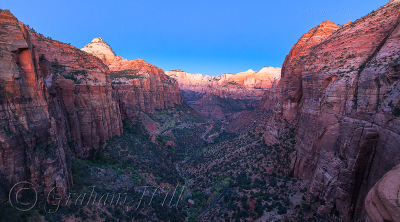 Dawn from Canyonview Overlook Trail, Zion National Park