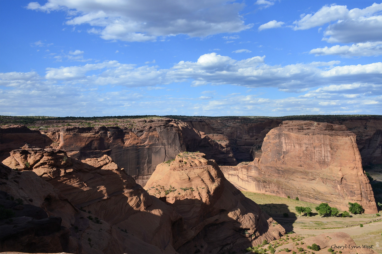 Canyon de Chelly, Arizona - view as we started down the trail on the canyon wall