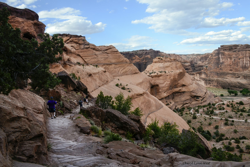 "Canyon de Chelly, Arizona - trail was ""slightly easier"" at this point"