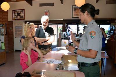 Canyon de Chelly, Arizona - Angelina receiving her Ranger Badge