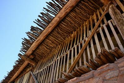 Hubbell Trading Post, National Historic Site, Ganado, Arizona - storage of hay in barn