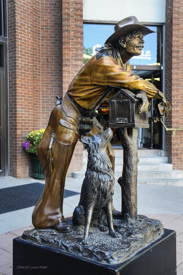 Durango, Colorado - Statue on main street