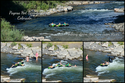 Pagosa Springs, Colorado - This is a delightful town, with mineral hot springs and the picturesque San Juan River running through it. People enjoy tubing, even when they end up flipping their inner tube.