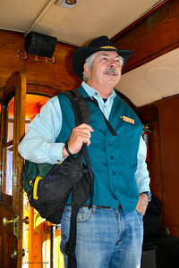 Durango & Silverton Narrow Gauge Railroad, Colorado - Mike, a volunteer, who provided information on the countryside