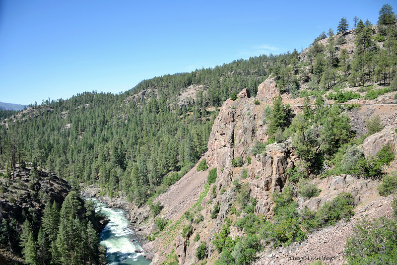 Durango & Silverton Narrow Gauge Railroad, Colorado - View of Animas River