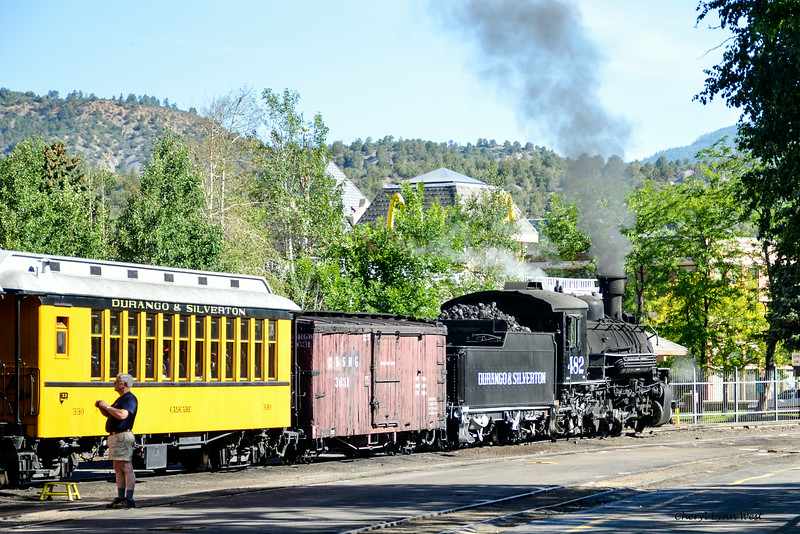Durango & Silverton Narrow Gauge Railroad, Colorado - getting ready to board